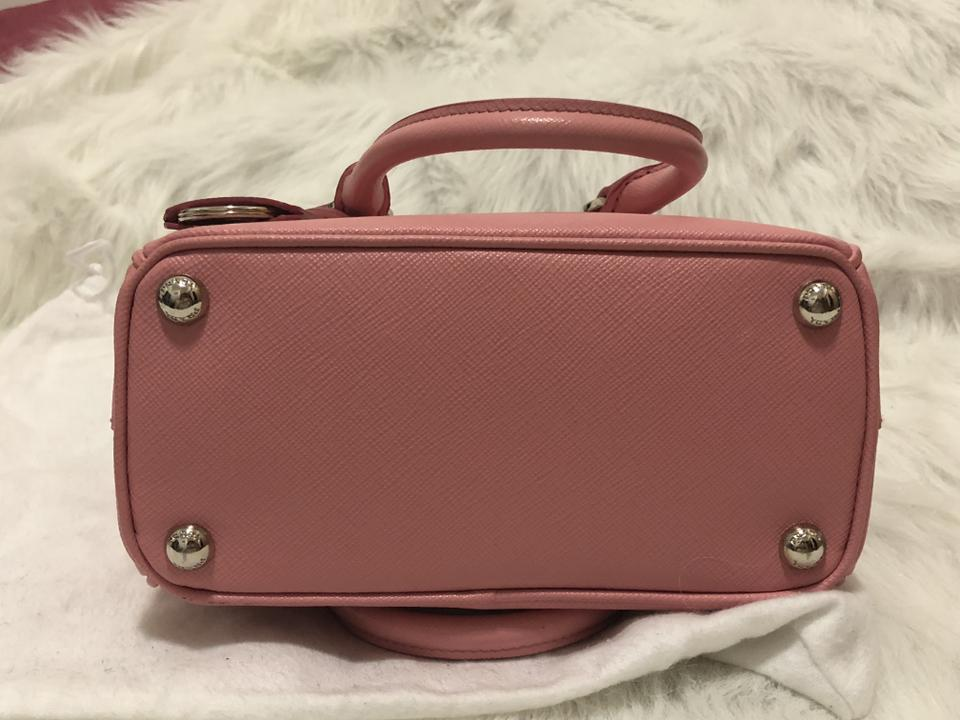 Cross Leather Mini Bag Double Body Saffiano Prada Pink gqO7xBnw