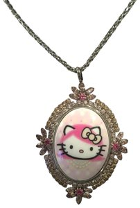 Tarina Tarantino Hello Kitty Pink Head Pink Crystal Pendant Necklace