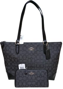 Coach Zip Top City City Tote in black