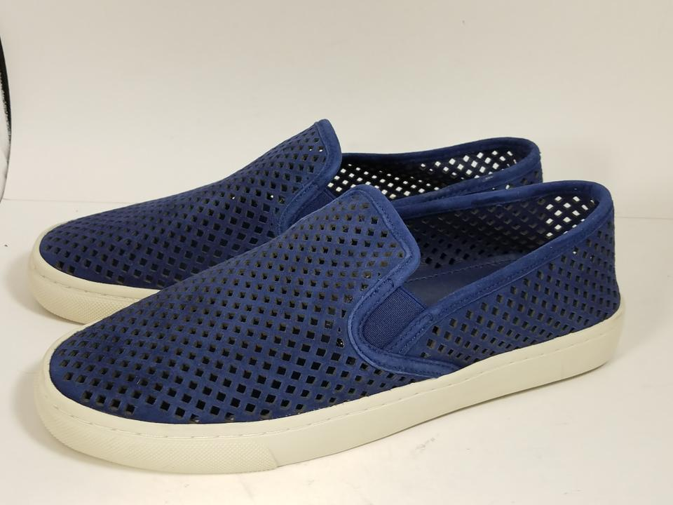 970296f03612 Tory Burch Navy Blue New Jesse Perforated Suede Sneaker Sea  White Sneakers  Size US 8.5 Regular (M
