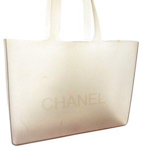 Chanel Shopping Rubber Tote in Clear