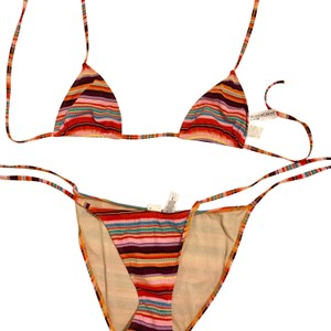 Newport News striped red bikini
