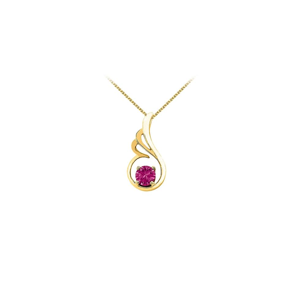 Pink yellow gold september birthstone sapphire pendant in 14k with marco b september birthstone pink sapphire pendant in 14k yellow gold with fre aloadofball Image collections