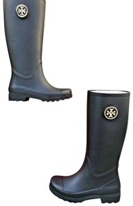 Tory Burch 9 Rubber #37568 Black Boots