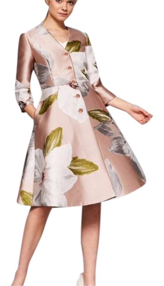 e9aaf2e6c Ted Baker Dusty Pink Ottie Chatsworth Bloom Coat Mid-length Cocktail ...