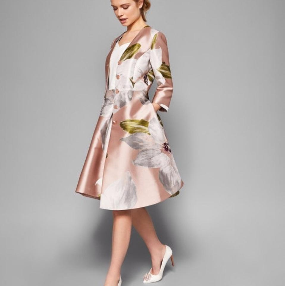 50c7fb680 Ted Baker Dusty Pink Ottie Chatsworth Bloom Coat Mid-length Cocktail Dress  Size 4 (S) - Tradesy