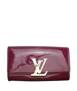 Louis Vuitton Patent Leather Burgundy Clutch