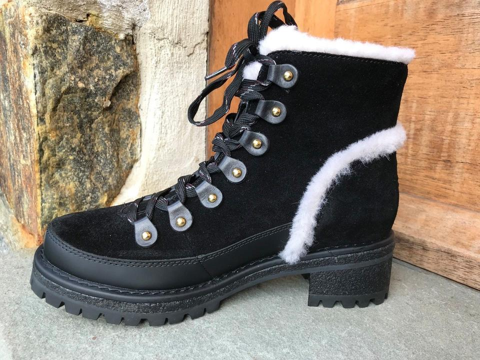 213fb592e774 Tory Burch Black Cooper Suede Warm Ankle Shearling  42421 Boots ...