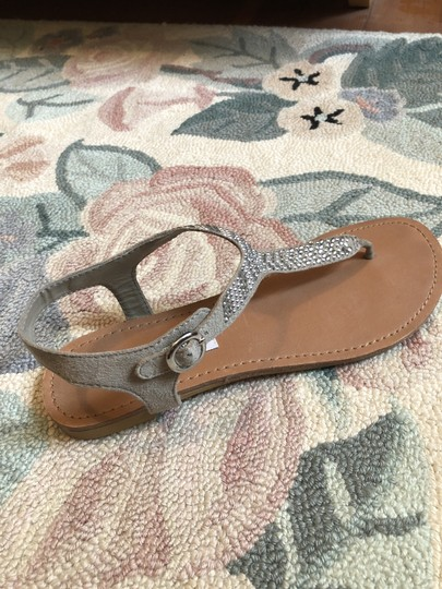 Steve Madden Tan and silver Sandals