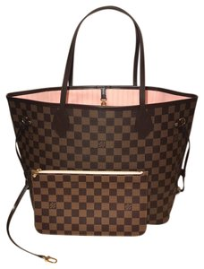 Louis Vuitton Neverfull Neverfull Mm Neverfull With Pouch Neverfull Tote in Rose Ballerine