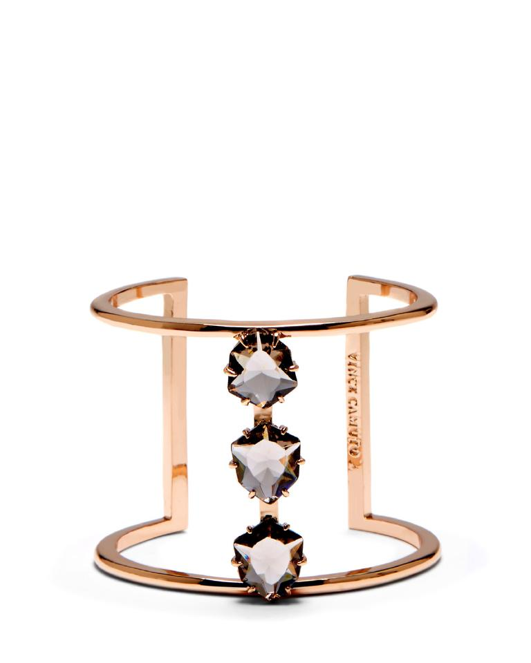 c7dcc3b7753 Vince Camuto Triple Glass Stone Accented T-bar Cuff Bracelet - Tradesy