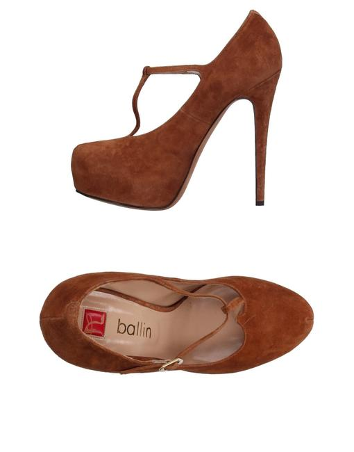 Item - Camel/Brown Leather/Suede Hidden Suede T-strap Pump Platforms Size EU 39.5 (Approx. US 9.5) Regular (M, B)
