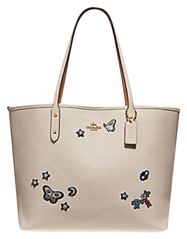 fb5231cf16ac8e Coach City With Souvenir Embroidery F25798 White Leather Tote - Tradesy