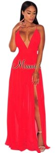 Red Maxi Dress by Hot Miami Styles