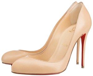 Christian Louboutin Pointed Toe Classic Nude Pumps