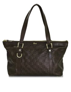 Gucci Monogram Monogram Embossed Tote in brown