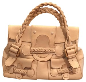 Valentino Satchel in light off white and gold buckles