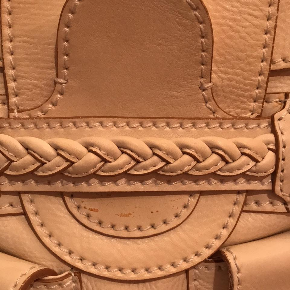 2e77a737862 Valentino Braided Leather Light Off White and Gold Buckles Satchel ...