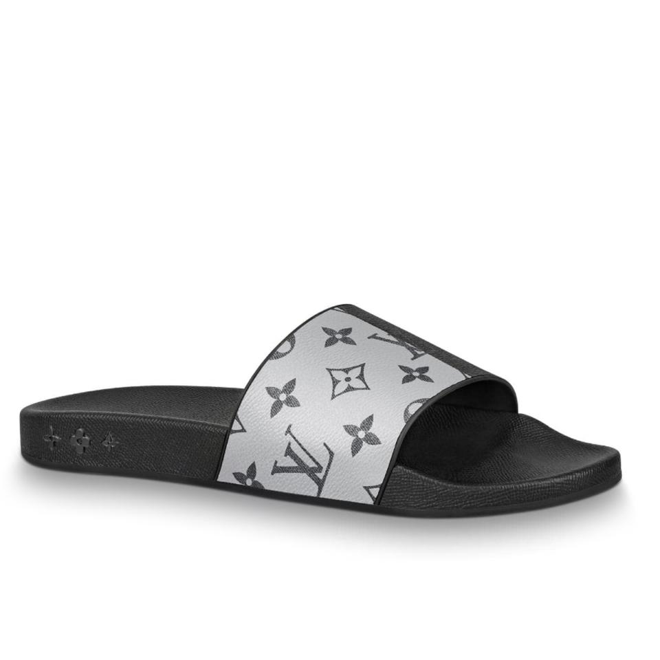 6f3298f06702a Louis Vuitton Black 2018 Limited Ss Spring Summer Waterfront Mules Gray  Monogram Slide Slides 1a419w Men Sandals