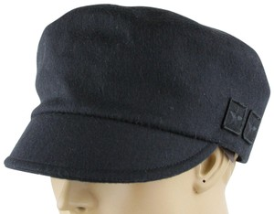 Gucci Gucci Black Wool Cap with Military Badges M 386814 1000
