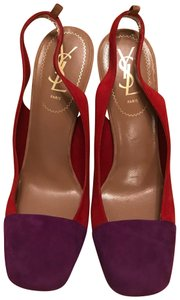 Saint Laurent Purple/Red/Green/Beige Pumps