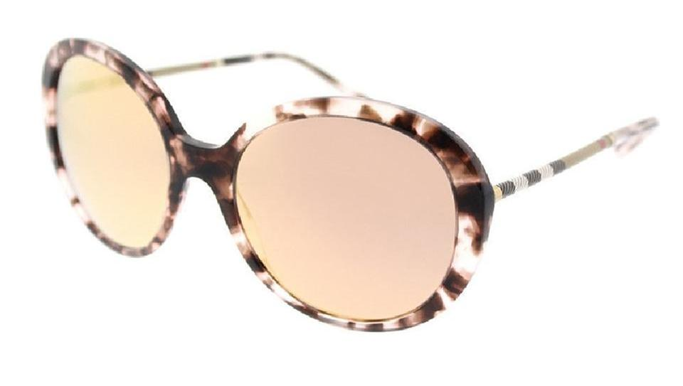 556b2bc2a3f6 Burberry Burberry Unisex Sunglasses BE4239Q 36637J Pink Havana Frame Gold  Lens Image 0 ...