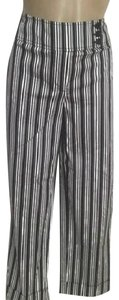 Ann Taylor LOFT Striped Capris Black & White