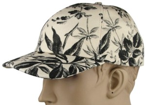 Gucci Beige/Black Canvas Baseball Cap with Floral Print XL 408793 1000