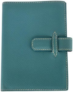 Gucci business card holders up to 70 off at tradesy herms hermes blue jean epsom leather notebook card holder case wallet colourmoves
