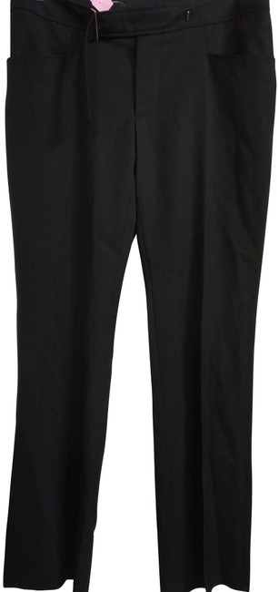 Item - Black 44(8) Made In Italy with Built-in Belt Pants Size 8 (M, 29, 30)