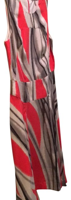 Rachel Roy Silver Red Grey Girl On Fire Mid-length Cocktail Dress Size 8 (M) Rachel Roy Silver Red Grey Girl On Fire Mid-length Cocktail Dress Size 8 (M) Image 1