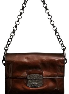 Prada Wristlet in shiny brown
