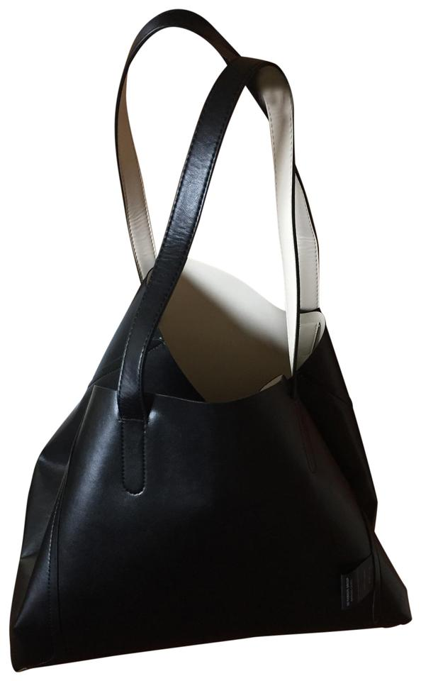 2d184718581e GERARD DAREL Vegan Simple 2 Reversible Black White Faux Leather Tote ...