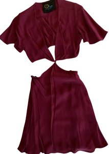 Blue Life short dress Burgundy Cut-out Short Sleeve on Tradesy