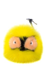 Fendi Fendi Monster Bag Bug Charm with Fox Fur