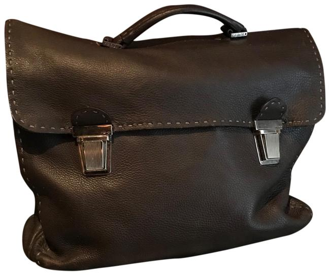Item - Men's Work Excellent Condition 9/10 Brown Leather Laptop Bag