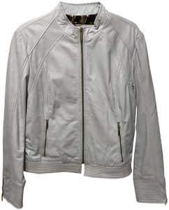 Laundry by Shelli Segal White Leather Jacket
