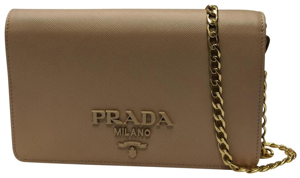 a403ce9f70b1ef Prada Lux Women's Saffiano Wallet 1bp012 Cipria Beige Leather Cross ...