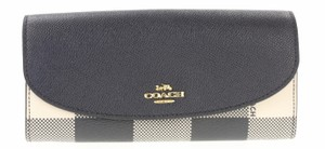 Coach Plaid Slim Envelope