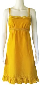 Viola short dress Yellow on Tradesy