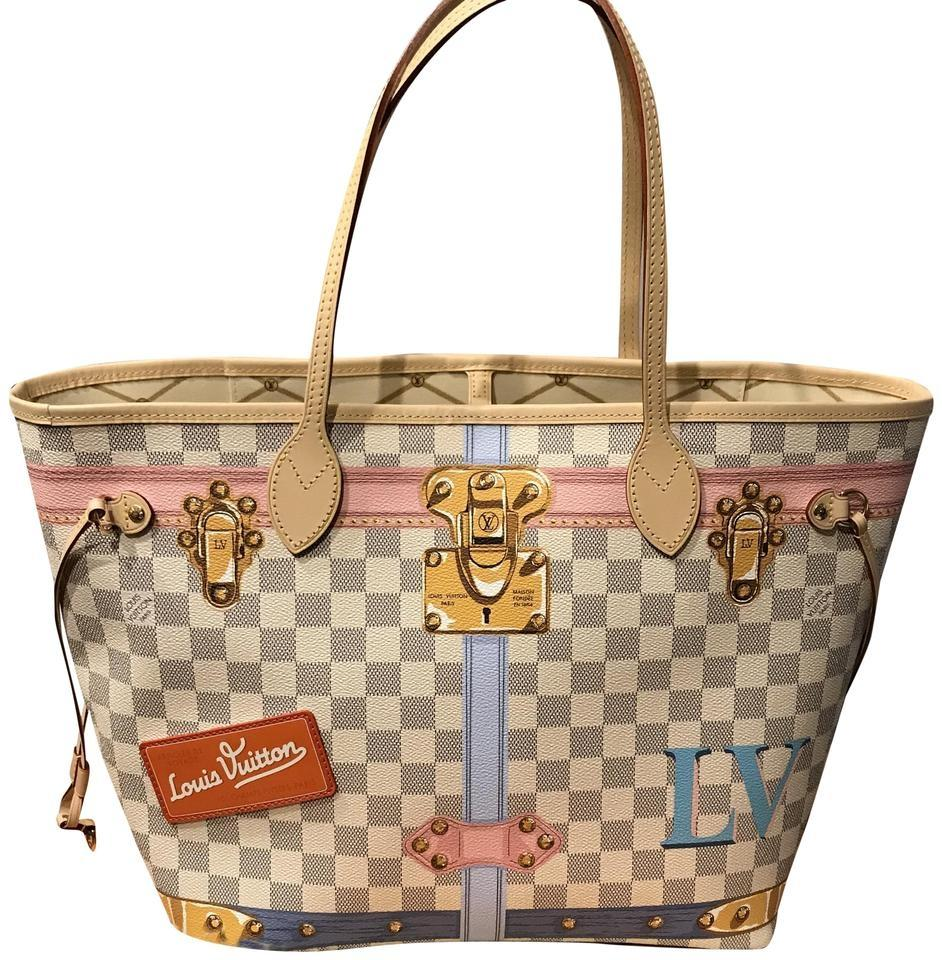 822c351c256d2 Louis Vuitton Neverfull Mm Summer Trunk Damier Azur Canvas Tote ...
