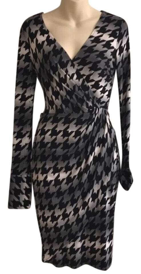 eaebf1cb Cache Houndstooth Long Sleeve Mid-length Cocktail Dress Size 2 (XS ...