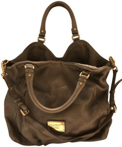 Marc by Marc Jacobs Leather Oversized Satchel in Taupe