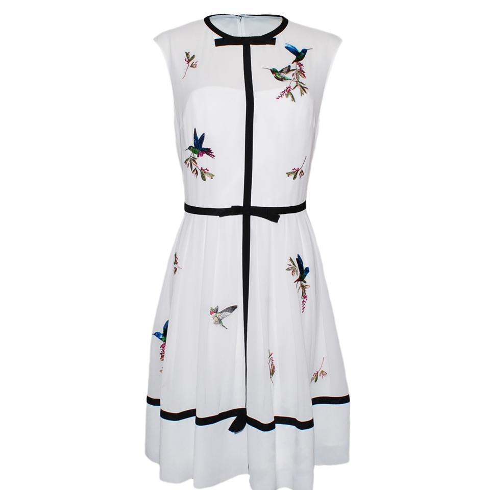 5529de38d Ted Baker White Lina Embroidered High Grove Short Casual Dress Size ...