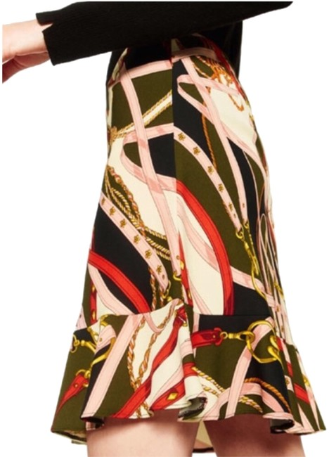 Item - Multicolor Flowing Print Skirt Size 6 (S, 28)