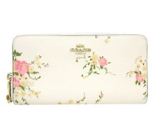 Coach COACH ACCORDION ZIP WALLET FLORAL BUNDLE BOW ZIP PULL F 29384