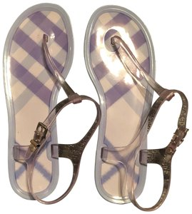 Burberry clear/lilac Sandals