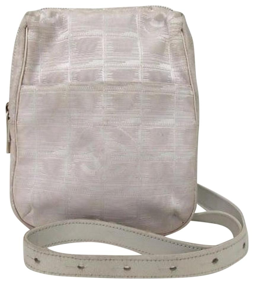 Chanel Waist Bag Cc Fanny Pack Light Pink White Leatherjacquard Cross Body Bag 69 Off Retail