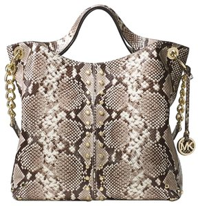 3a0ddf7afbb6 purchase michael kors susie leather python backpack 28fdf 97fcd; official  store michael kors phyton embossed leather animal print studded satchel in  natural ...