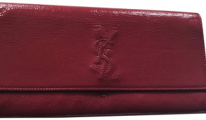 Saint Laurent raspberry red Clutch